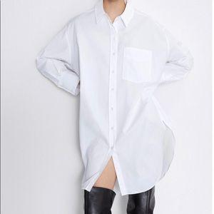 🆕 Zara large oversized white button-up